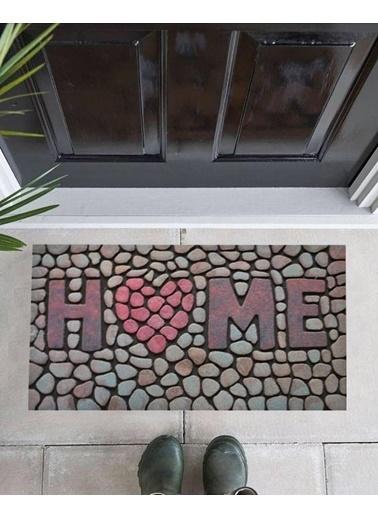 Giz Home Mozaik Kapı Paspası 45X75 8824-05 Renkli
